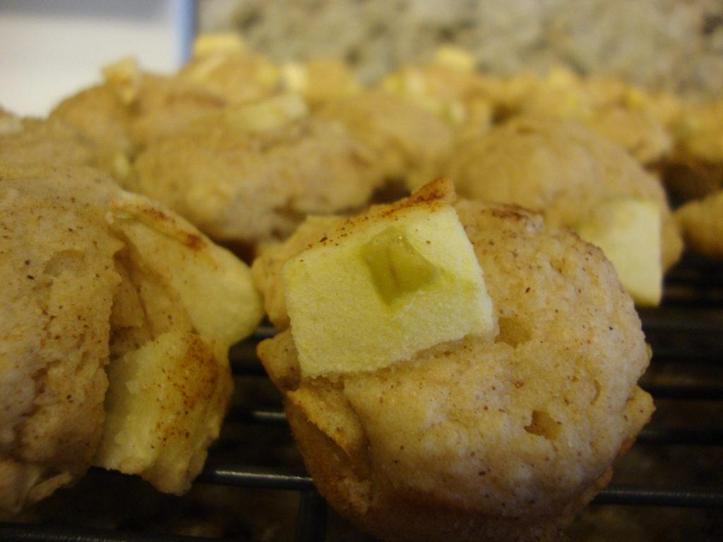 Whole Wheat Oatmeal Apple Muffins
