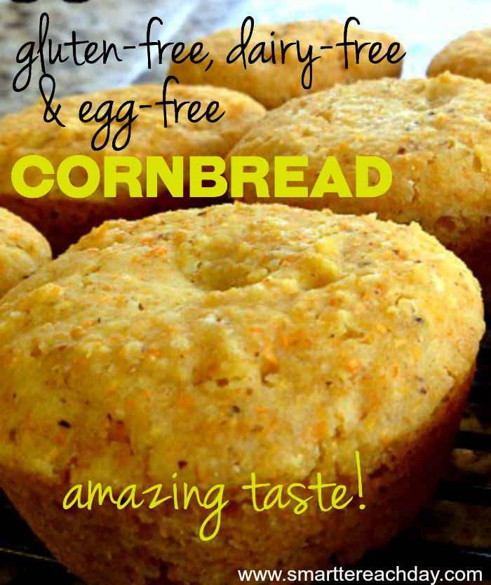 This gluten free, dairy free and egg free cornbread is just melt-in ...