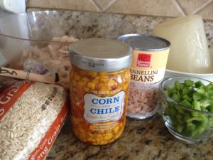 White Lightning Chili made with Trader Joe's salsa. Couldn't be easier! Healthy, and our whole family loves this dish!