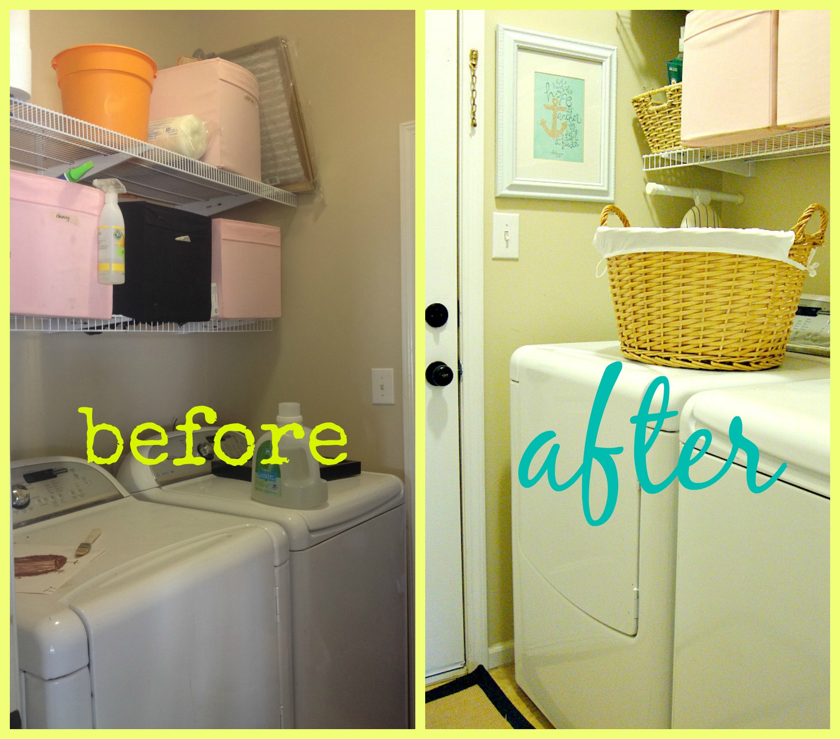 My $50 Laundry Room Makeover