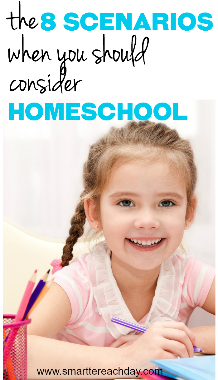 Have you ever thought you'd like to homeschool? Ever feel like you're crazy for wanting to? Here are 8 scenarios for you to consider homeschooling!