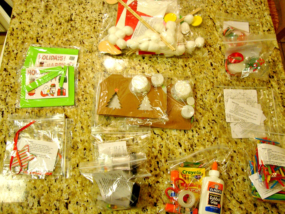 These are the 12 projects we received for Christmas. Instructions and everything!