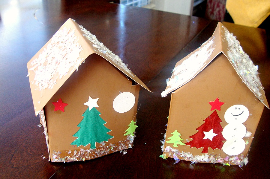 (Adorable) finished products. (There's a little tea lantern inside! The boys were thrilled :) )