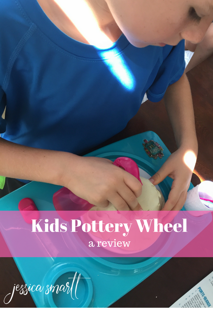 When I got the chance to review Pottery Cool spinning wheel with my kids, I jumped at the chance, because I knew my boys would love it.