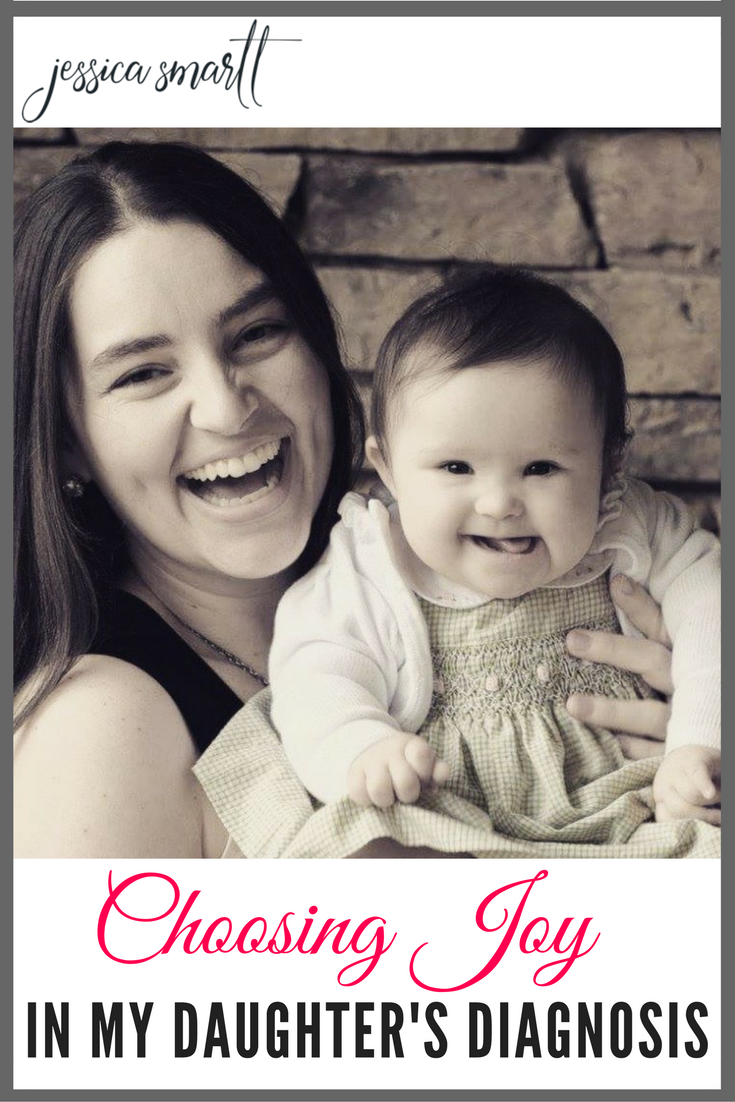At 4.5 months old, Elizabeth's daughter was diagnosed with Down's Syndrome, but instead of becoming victim's of the diagnosis, they are choosing joy!