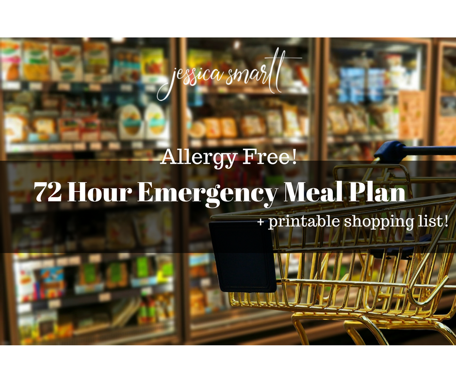 72 Hour Emergency Meal Plan